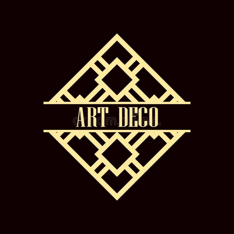 Logotipo del art déco stock de ilustración