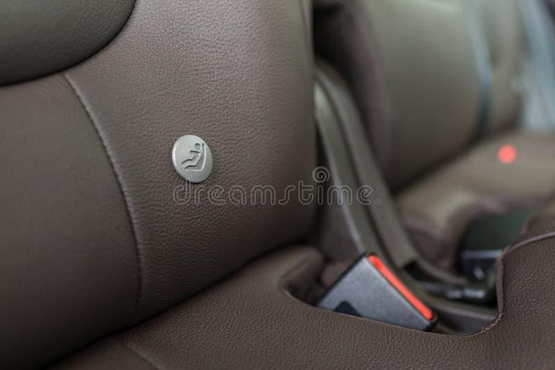 Logotipo del asiento de carro del bebé imágenes de archivo libres de regalías