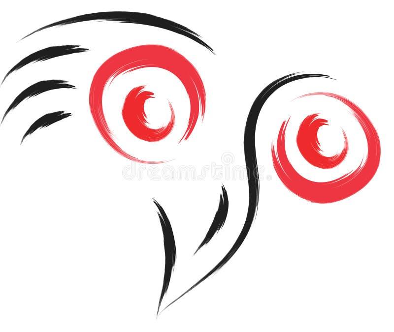 Logotipo del búho stock de ilustración
