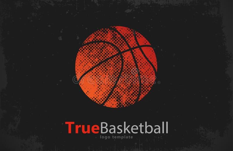 Logotipo del baloncesto Diseño Deporte Logotipo creativo del deporte stock de ilustración