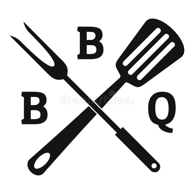 Logotipo del Bbq, estilo simple stock de ilustración