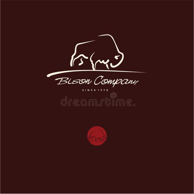 Logotipo del bisonte libre illustration