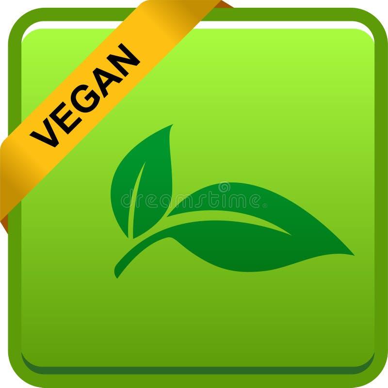 Logotipo del botón del sello del vegano libre illustration