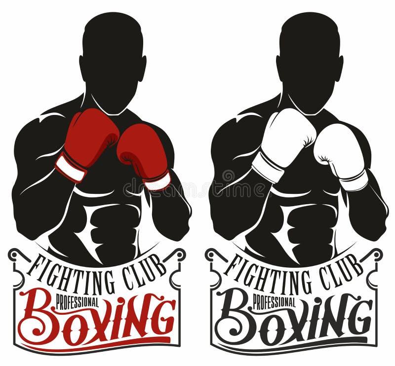 Logotipo del boxeo ilustración del vector. Ilustración de anatomía ...