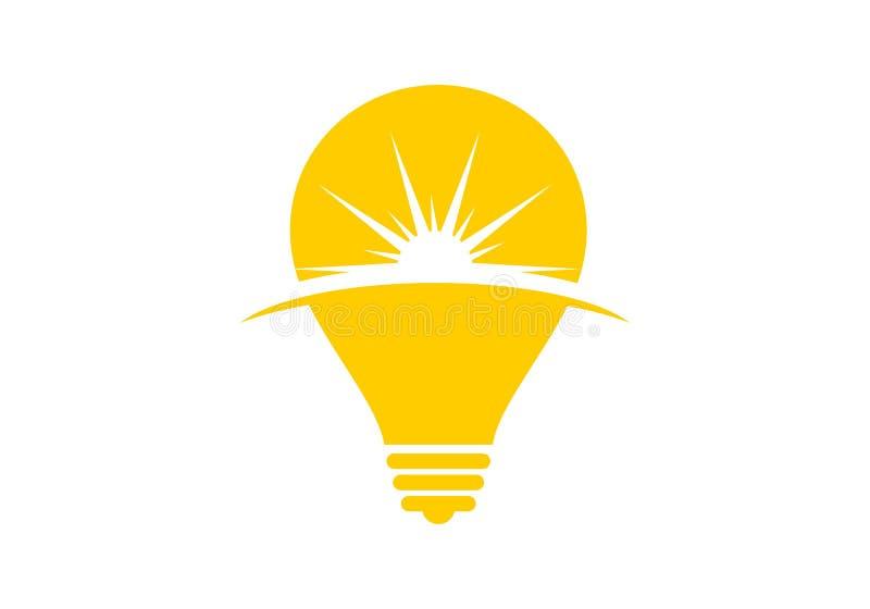 Logotipo del bulbo de Sun ilustración del vector
