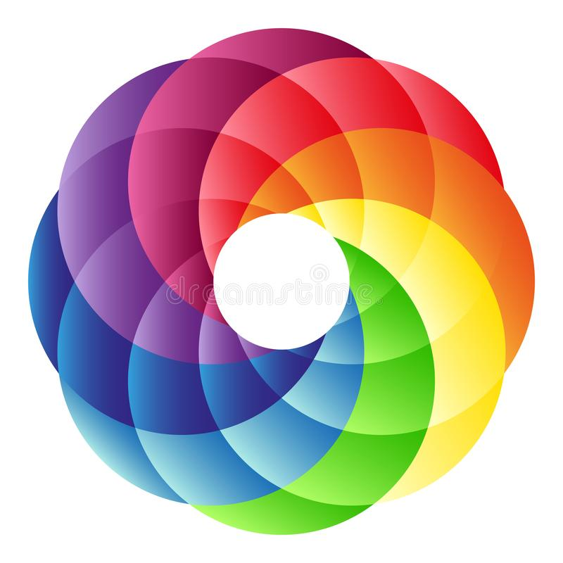 Logotipo del círculo del arco iris libre illustration