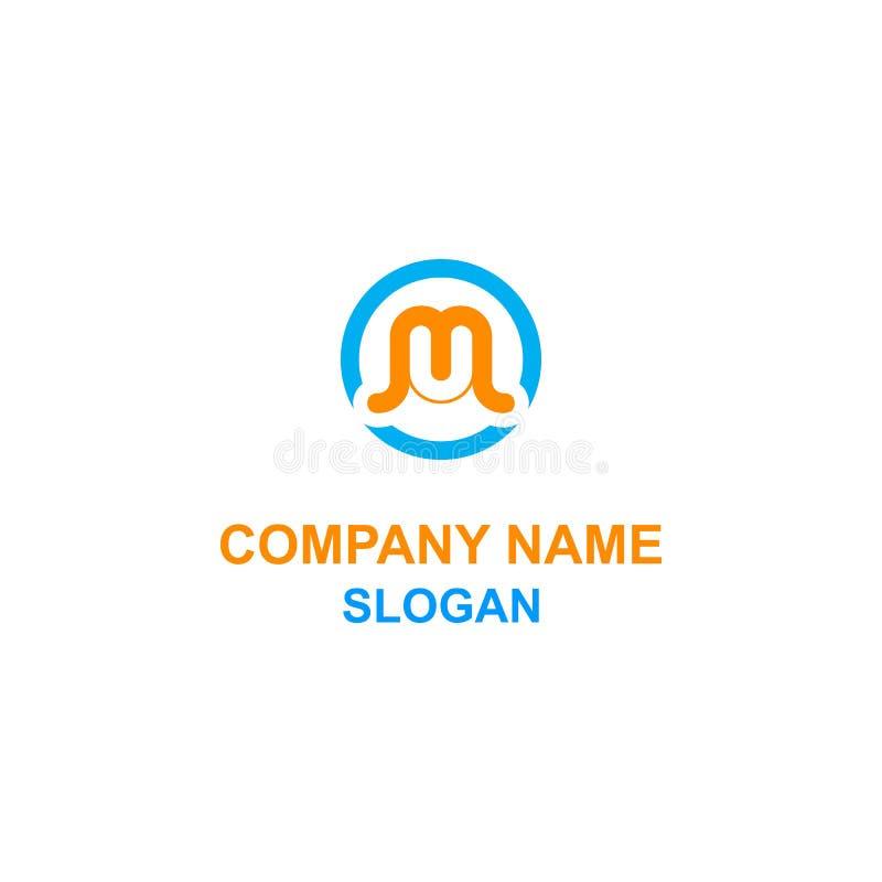 Logotipo del círculo de la inicial de la letra de MU libre illustration