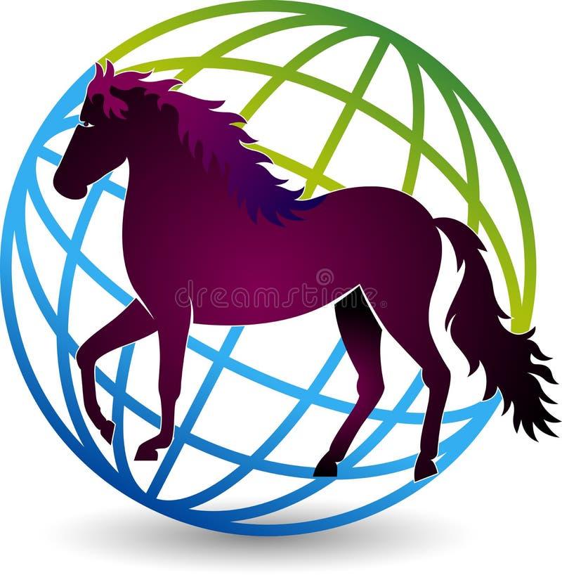 Logotipo del caballo del mundo libre illustration