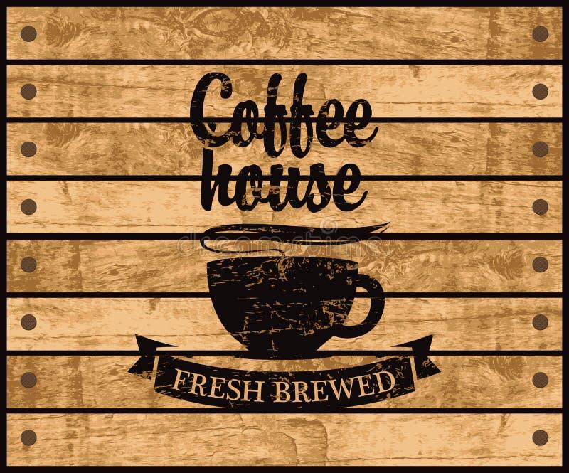 Logotipo del café ilustración del vector