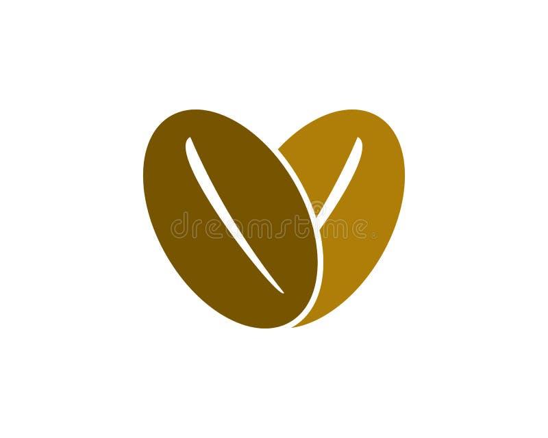 Logotipo del café del amor stock de ilustración