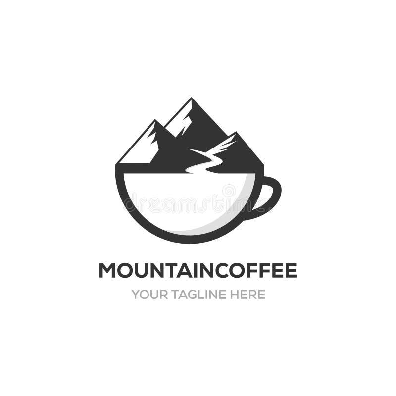 Logotipo del café de la montaña ilustración del vector