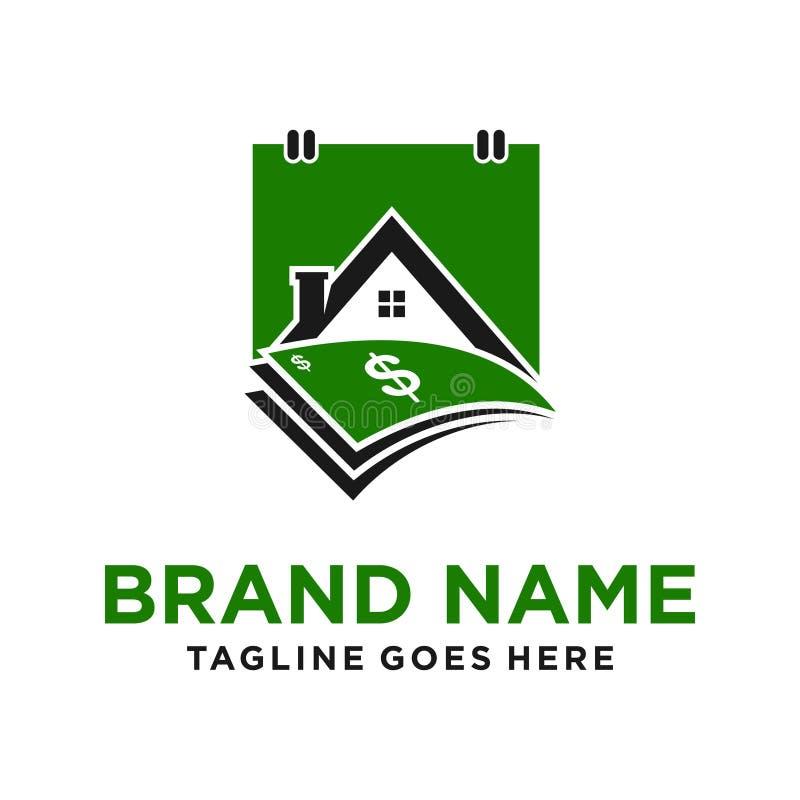 Logotipo del calendario del préstamo hipotecario ilustración del vector