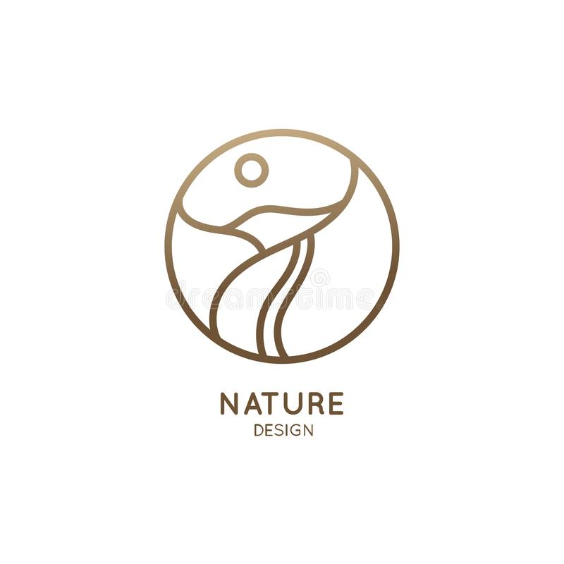 Logotipo del camino de la montaña libre illustration