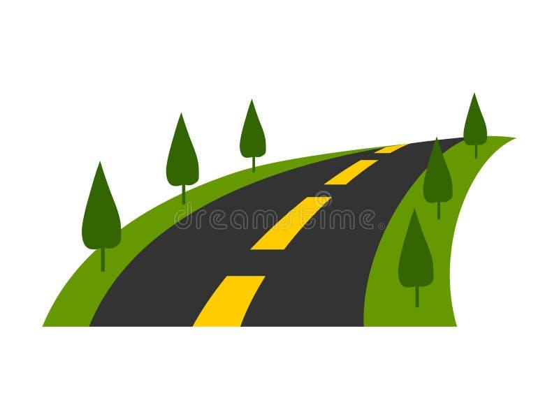 Logotipo del camino Vector del icono del transporte del viaje ilustración del vector