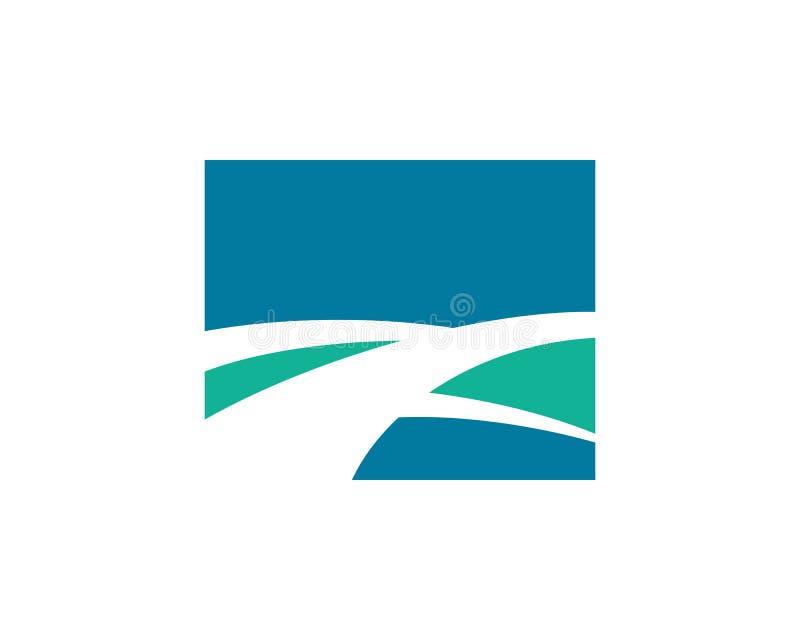 Logotipo del camino y del paisaje de la naturaleza libre illustration