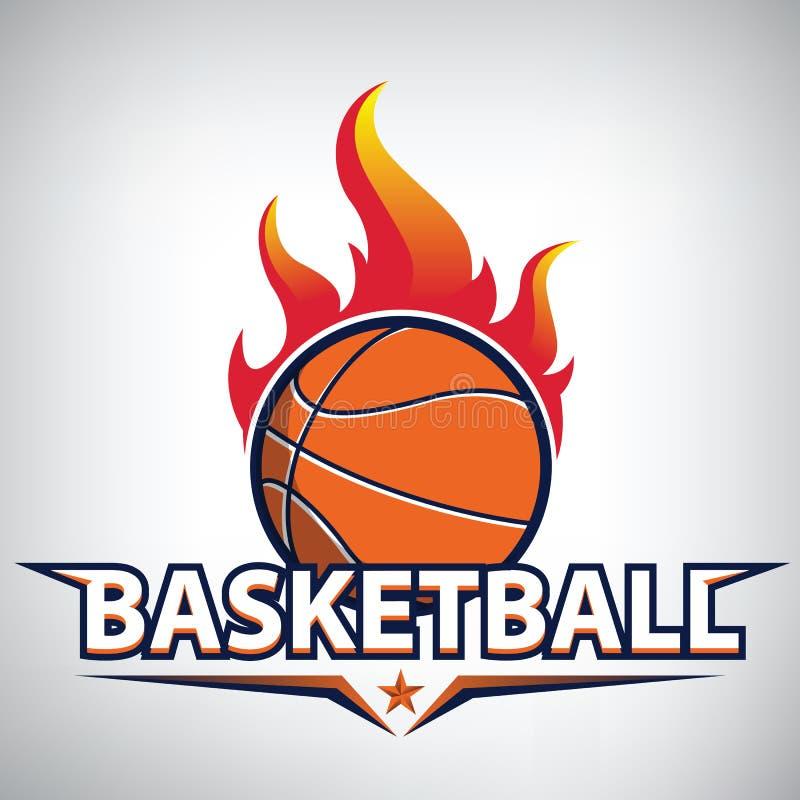 Logotipo del campeonato del baloncesto ilustración del vector