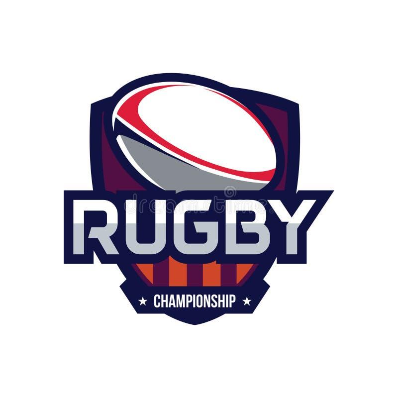 Logotipo del campeonato del rugbi ilustración del vector