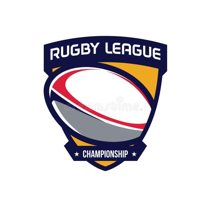 Logotipo del campeonato del rugbi libre illustration