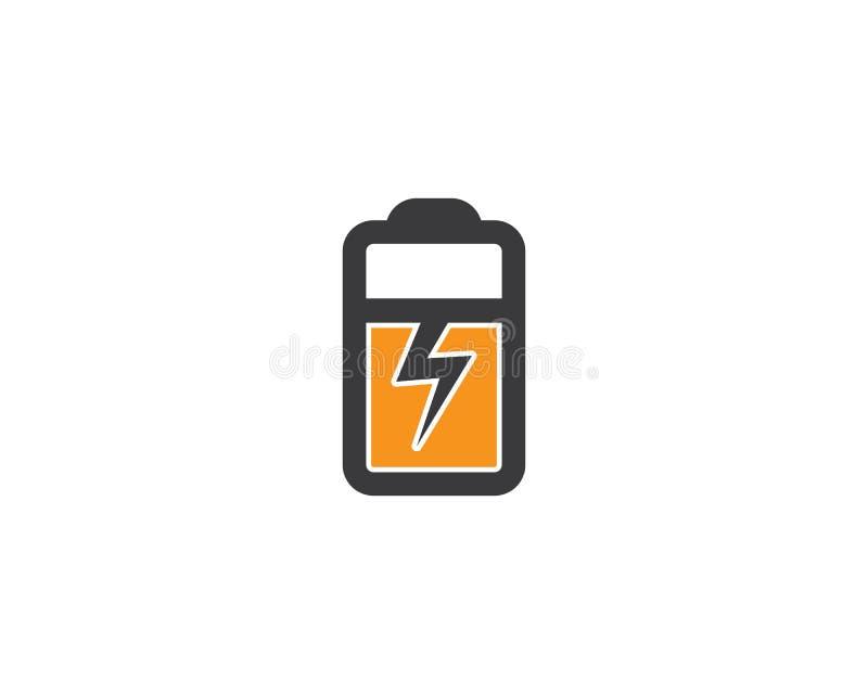 Logotipo del cargador de batería stock de ilustración