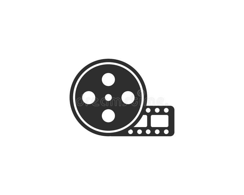 Logotipo del carrete de película ilustración del vector