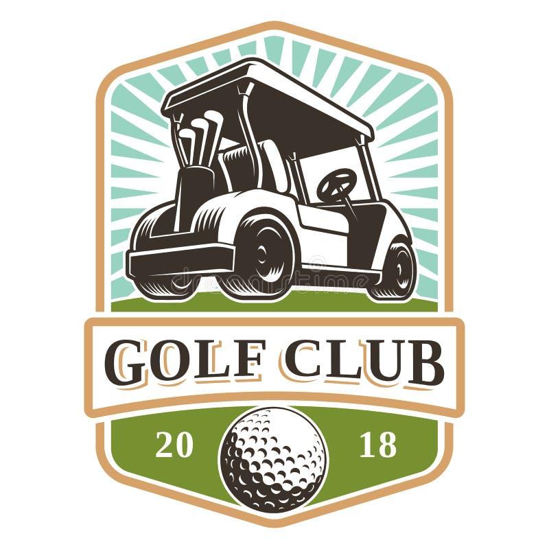 Logotipo del carro de golf ilustración del vector