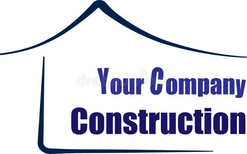 Logotipo del casa o casero, diseño verde del vector del icono del edificio de la subida del símbolo de la arquitectura stock de ilustración