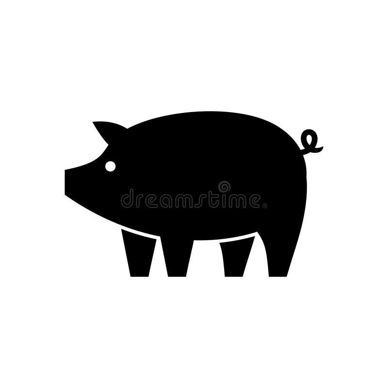 Logotipo del cerdo ilustración del vector
