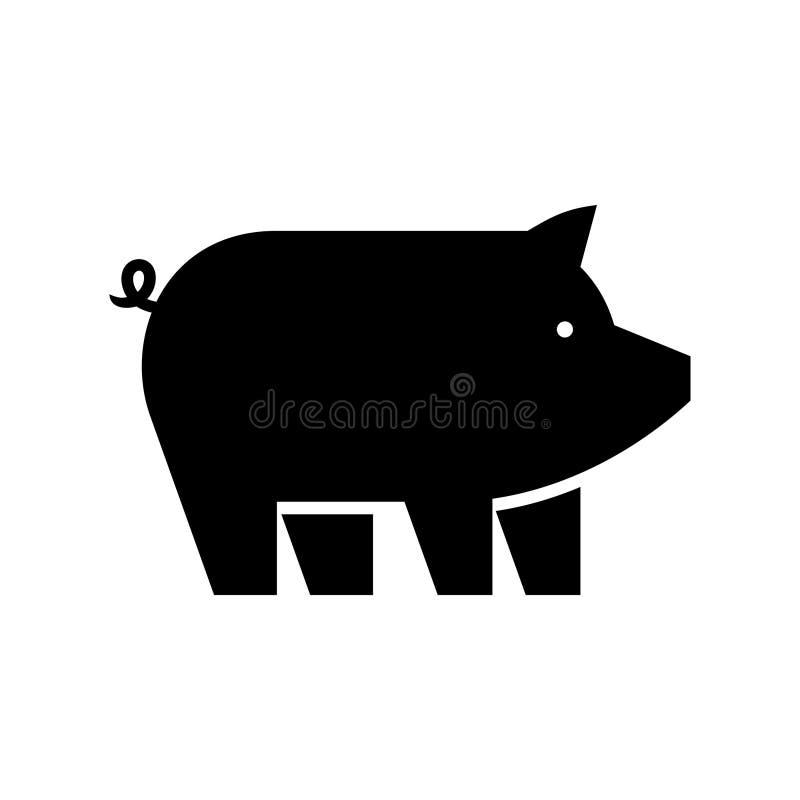 Logotipo del cerdo stock de ilustración