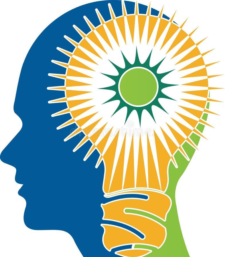 Logotipo del cerebro del poder stock de ilustración