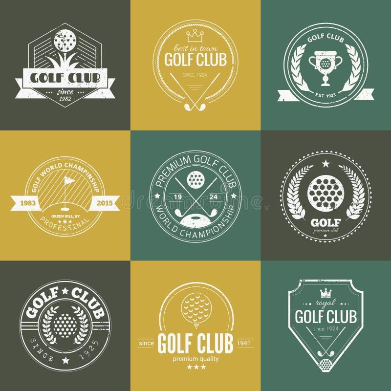 Logotipo del club de golf ilustración del vector