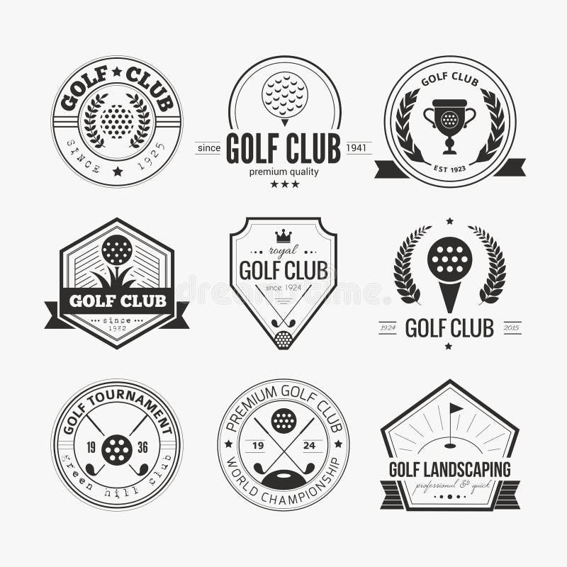 Logotipo del club de golf stock de ilustración
