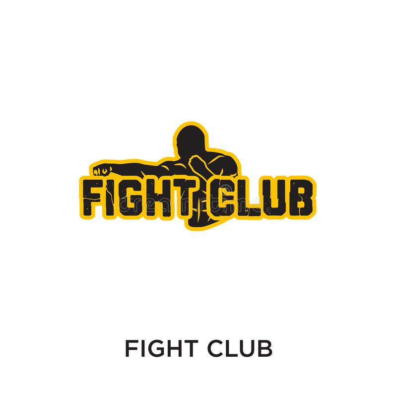 logotipo del club de la lucha aislado en el fondo blanco para su web, mobil stock de ilustración