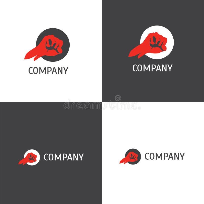 Logotipo del club de la lucha o de la compañía de las mercancías ilustración del vector