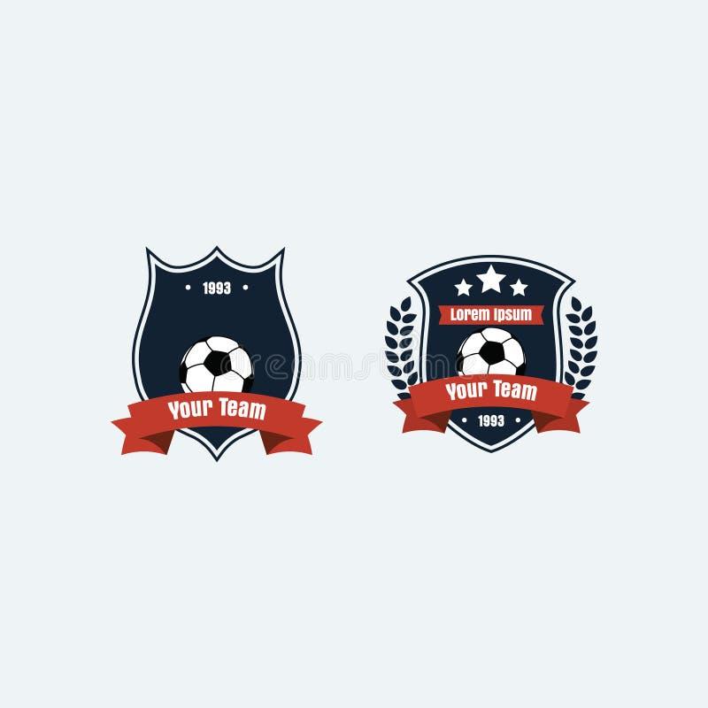 Logotipo del club del fútbol del fútbol fotos de archivo libres de regalías