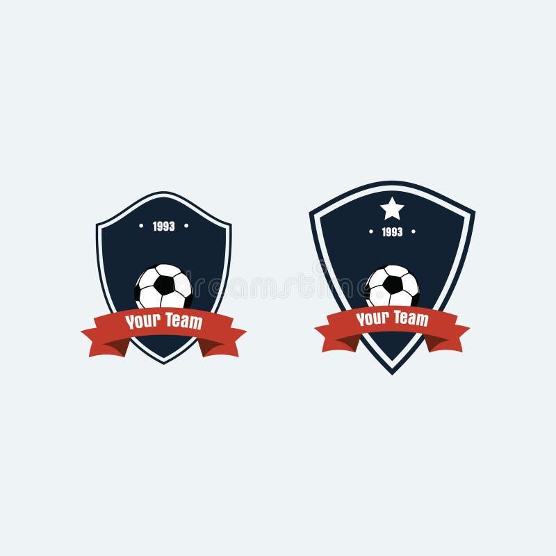 Logotipo del club del fútbol del fútbol imagen de archivo libre de regalías
