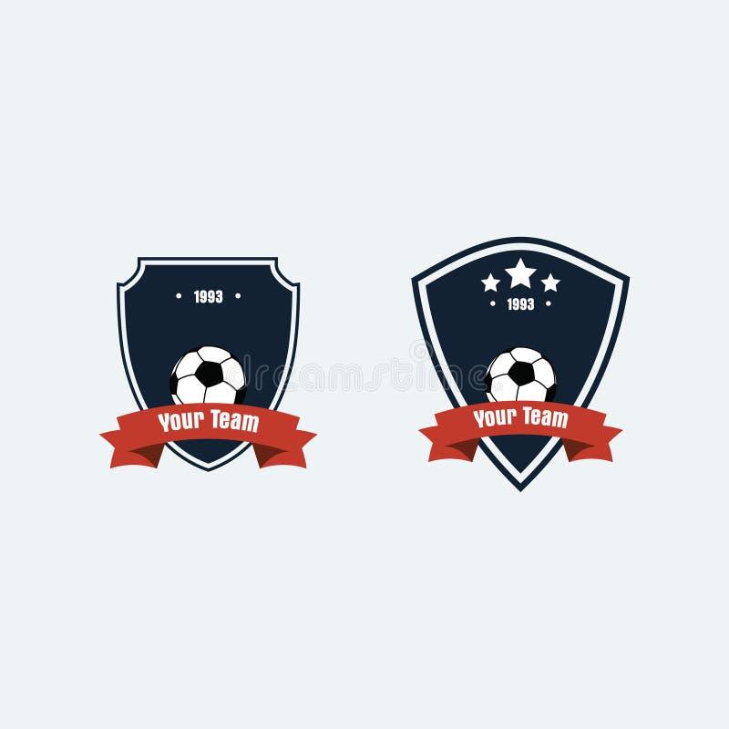 Logotipo del club del fútbol del fútbol imagenes de archivo