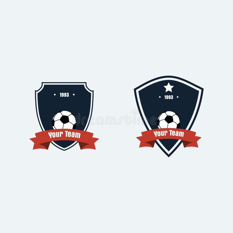 Logotipo del club del fútbol del fútbol imagen de archivo