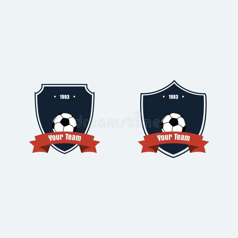 Logotipo del club del fútbol del fútbol foto de archivo