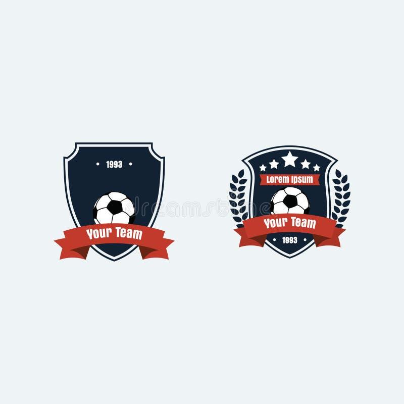 Logotipo del club del fútbol del fútbol fotografía de archivo