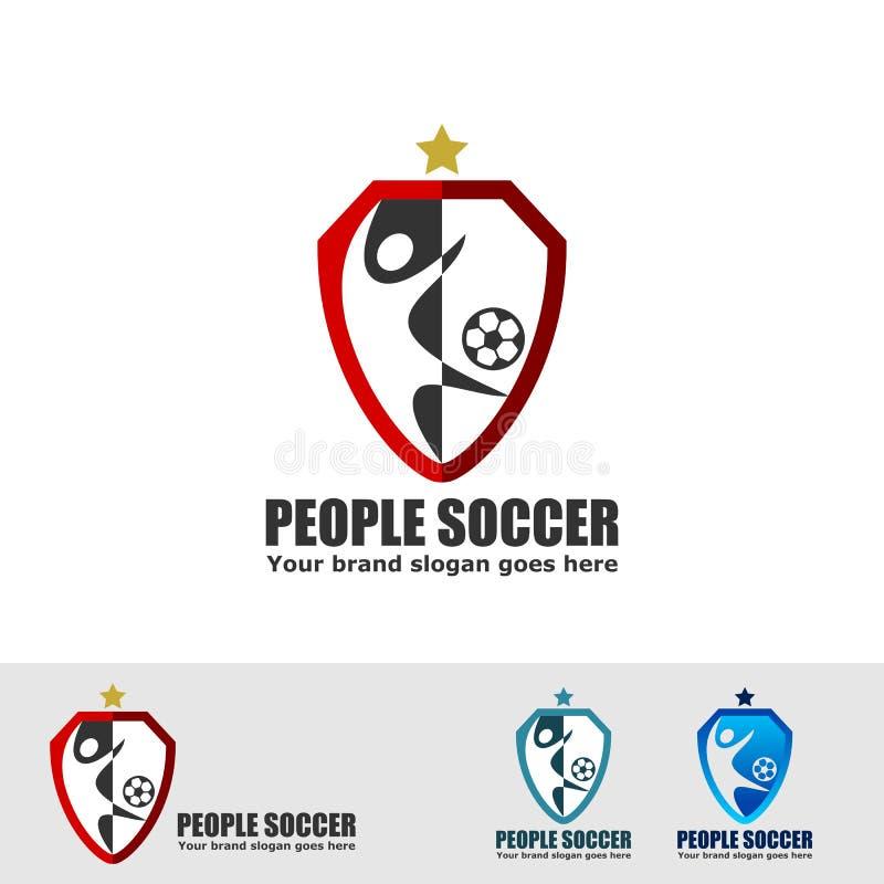 Logotipo del club del fútbol stock de ilustración