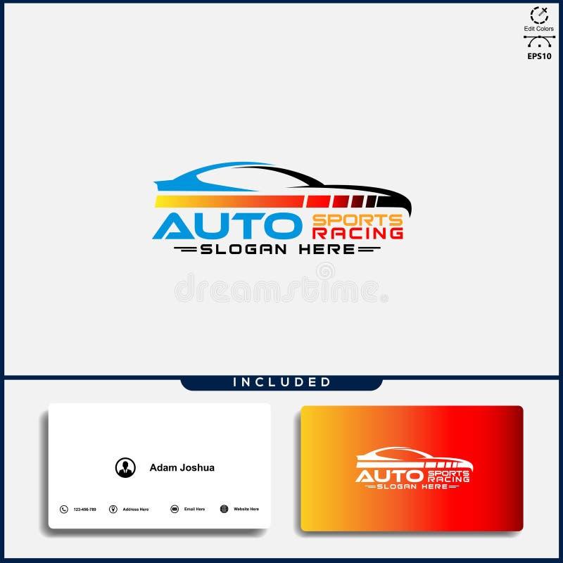 Logotipo del coche, concepto de dise?o abstracto del coche, plantilla automotriz del dise?o del logotipo del coche stock de ilustración