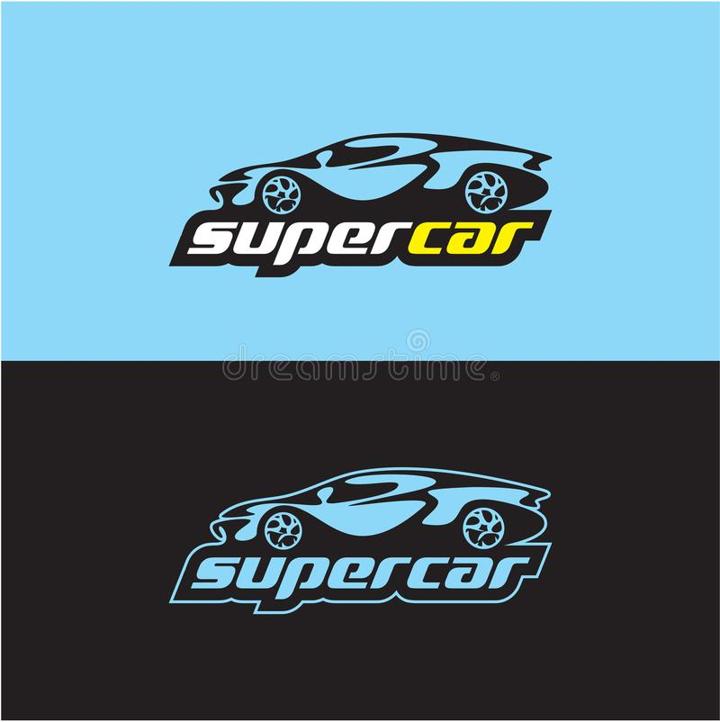 Logotipo del coche, coche de deportes stock de ilustración