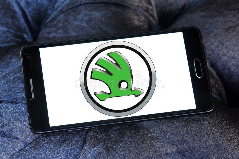 Logotipo del coche de Skoda imagen de archivo libre de regalías