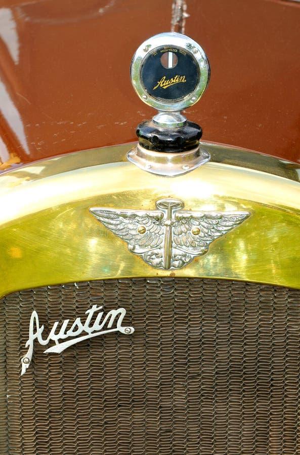 Logotipo del coche del vintage de Austin fotografía de archivo libre de regalías