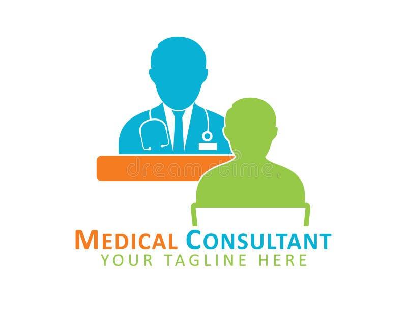 Logotipo del consultor médico stock de ilustración