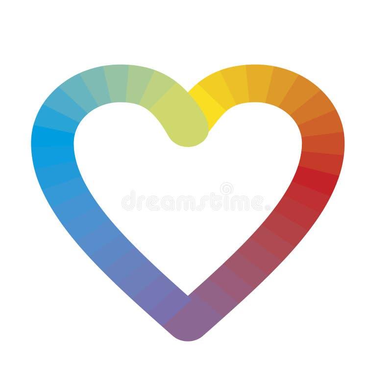 Logotipo Del Corazón Del Arco Iris Aislado En Blanco Símbolo De La ...
