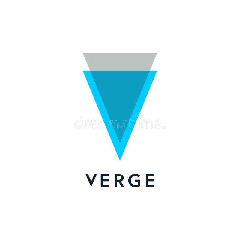 Logotipo del cryptocurrency del borde, aislado en el fondo blanco libre illustration