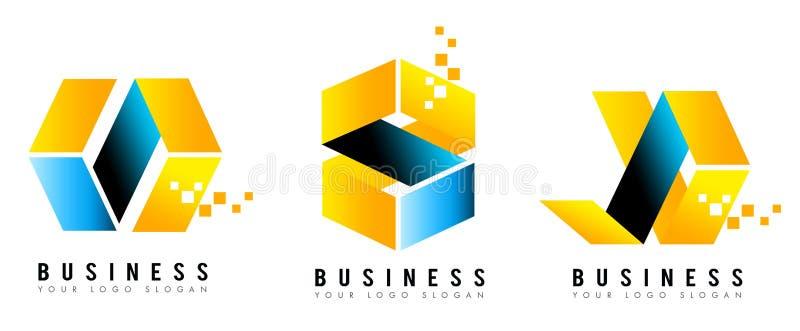 Logotipo del cubo libre illustration