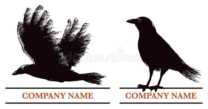 Logotipo del cuervo ilustración del vector