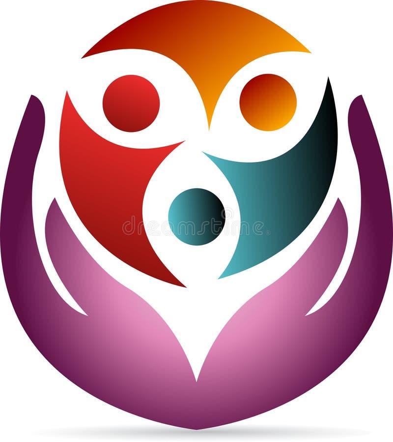 Logotipo del cuidado stock de ilustración